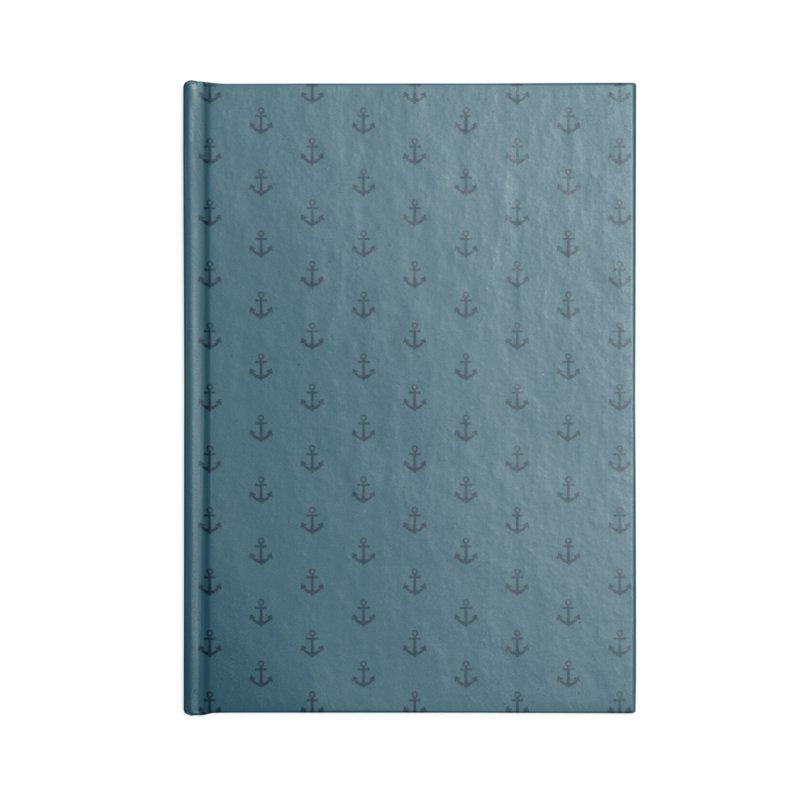 Anchor Motif Pattern Accessories Blank Journal Notebook by Mr Loco Motif - Artist Shop