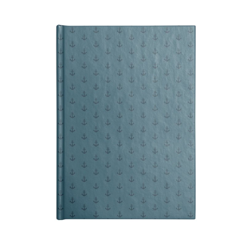 Anchor Motif Pattern Accessories Lined Journal Notebook by Mr Loco Motif