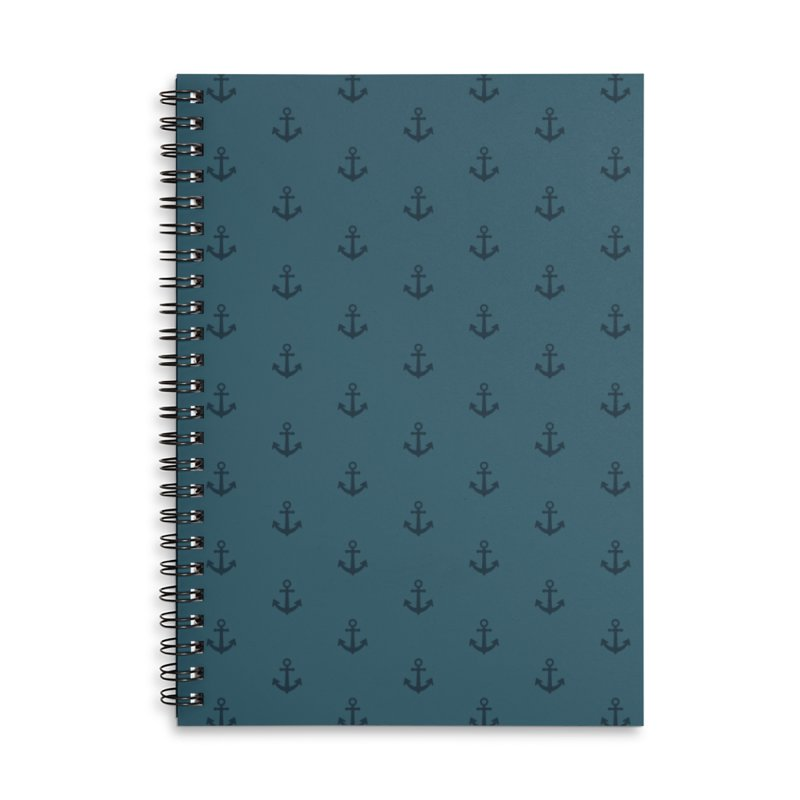 Anchor Motif Pattern Accessories Lined Spiral Notebook by Mr Loco Motif - Artist Shop