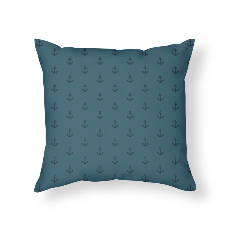 Anchor Motif Pattern Home Throw Pillow by Mr Loco Motif