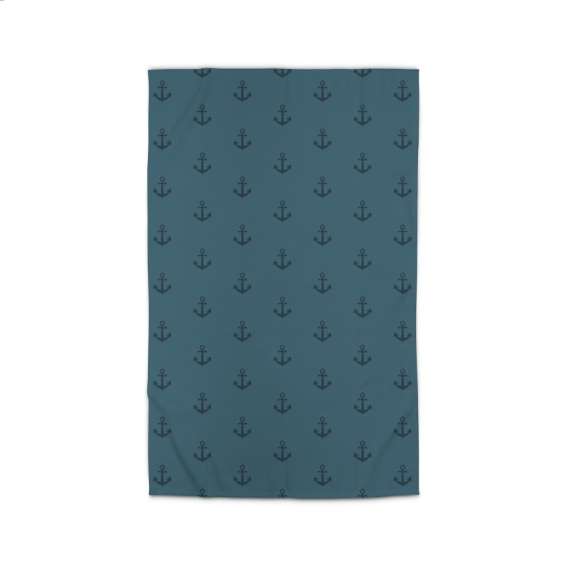 Anchor Motif Pattern Home Rug by Mr Loco Motif