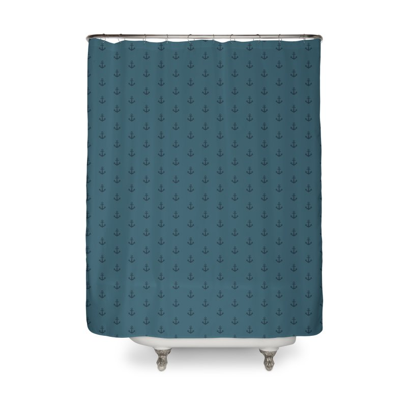 Anchor Motif Pattern Home Shower Curtain by Mr Loco Motif - Artist Shop