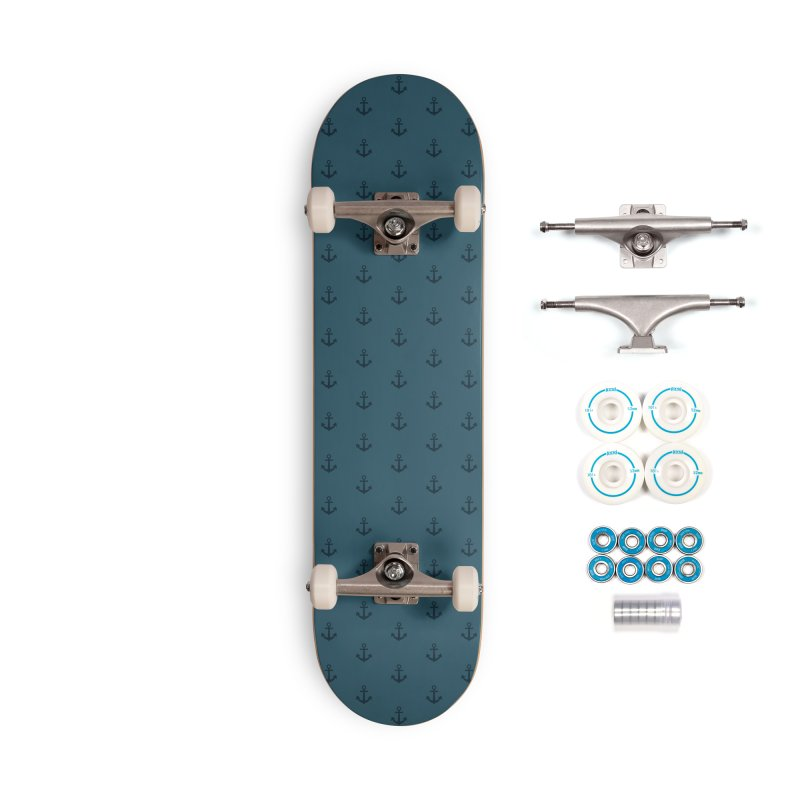 Anchor Motif Pattern Accessories Complete - Basic Skateboard by Mr Loco Motif