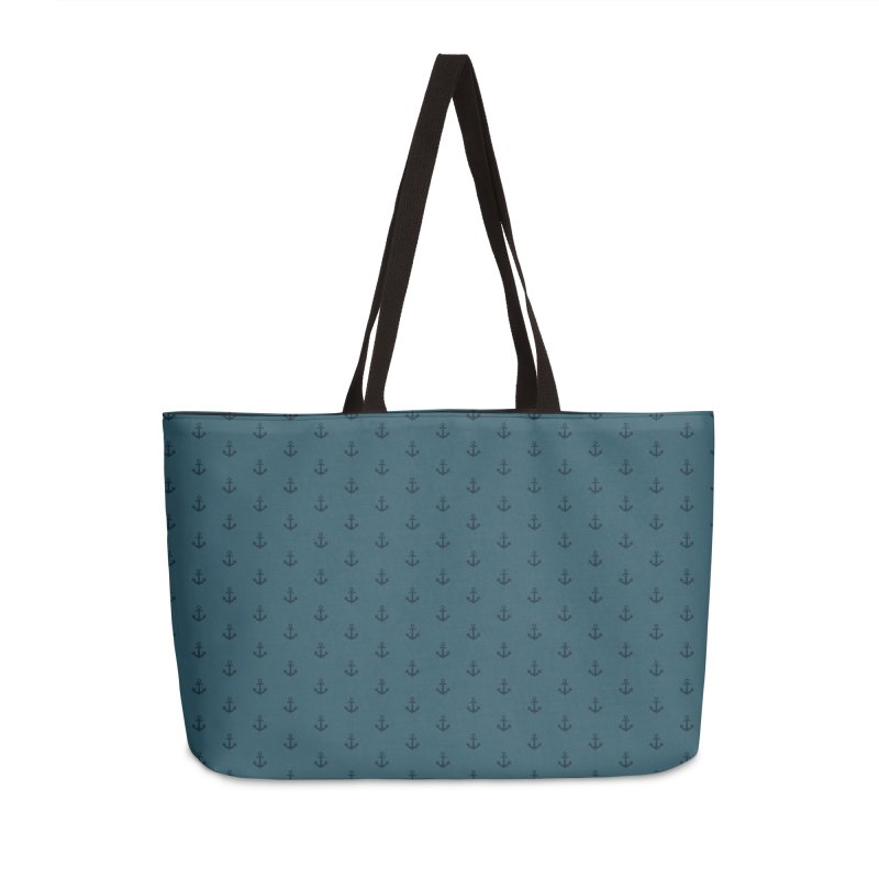 Anchor Motif Pattern Accessories Weekender Bag Bag by Mr Loco Motif