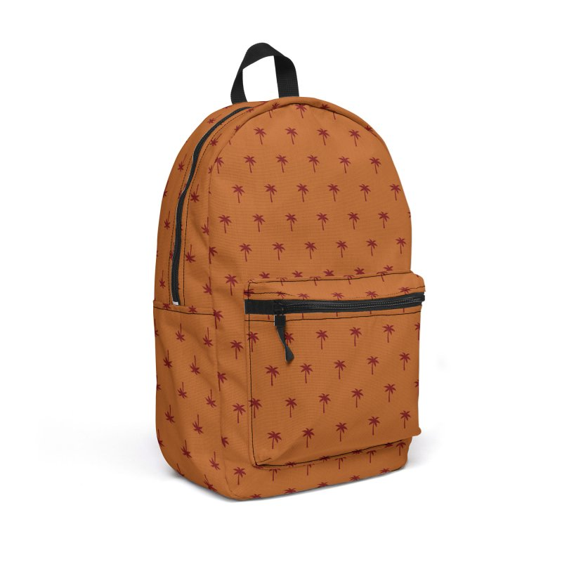 Palm Motif Pattern Accessories Backpack Bag by Mr Loco Motif