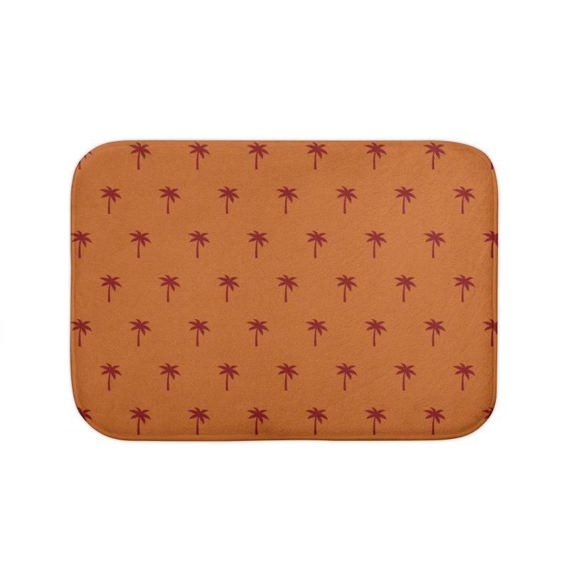 Palm Motif Pattern Home Bath Mat by Mr Loco Motif