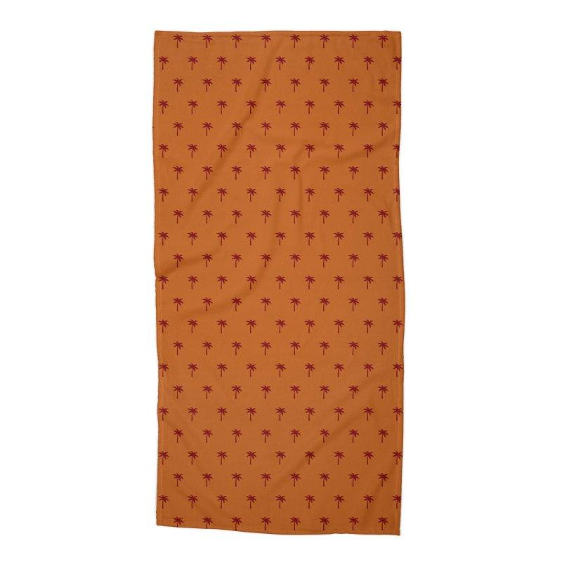 Palm Motif Pattern Accessories Beach Towel by Mr Loco Motif