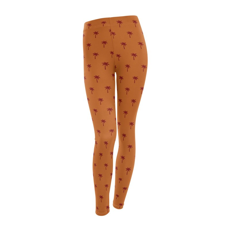 Palm Motif Pattern Women's Leggings Bottoms by Mr Loco Motif