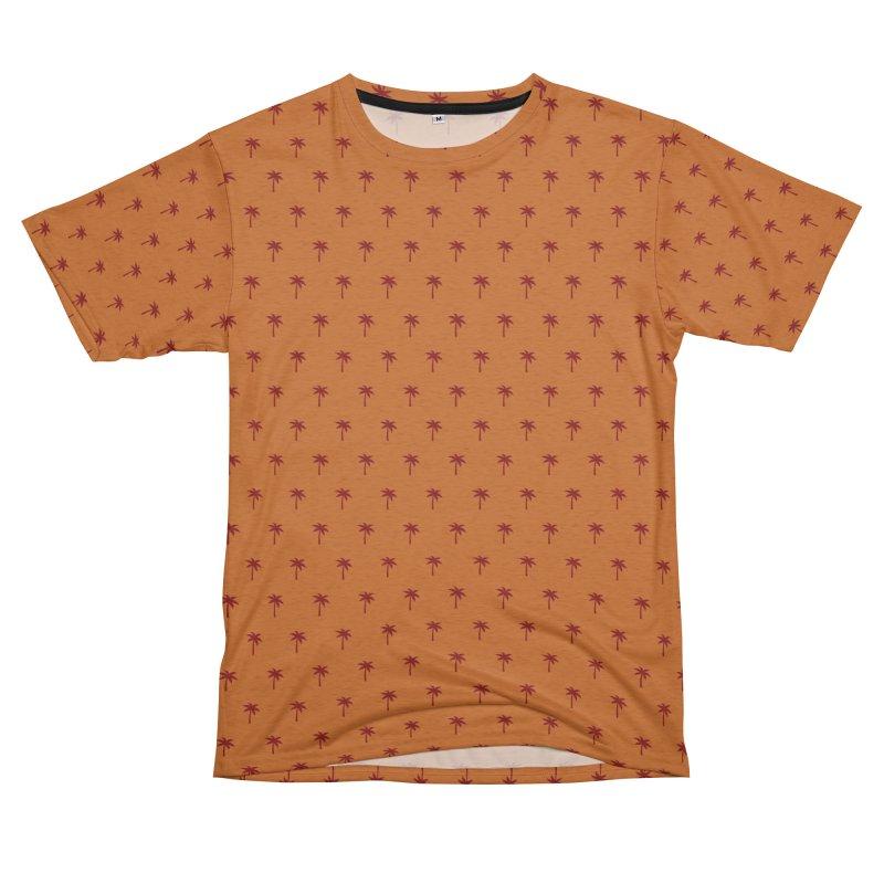 Palm Motif Pattern Women's Unisex French Terry T-Shirt Cut & Sew by Mr Loco Motif