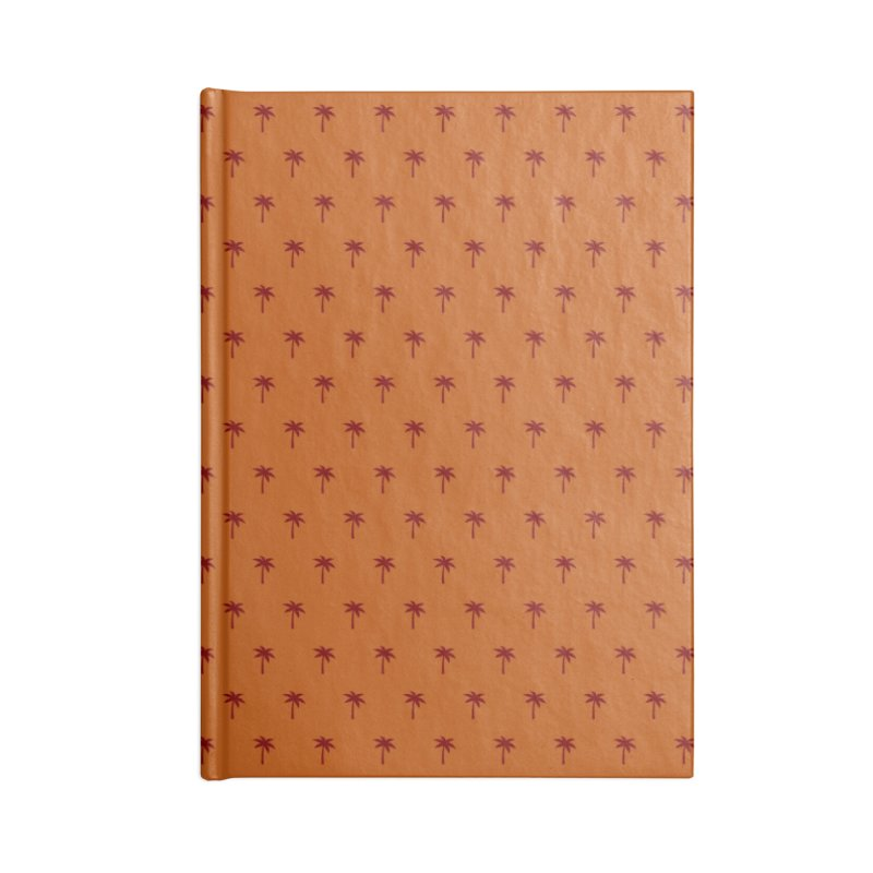 Palm Motif Pattern Accessories Lined Journal Notebook by Mr Loco Motif
