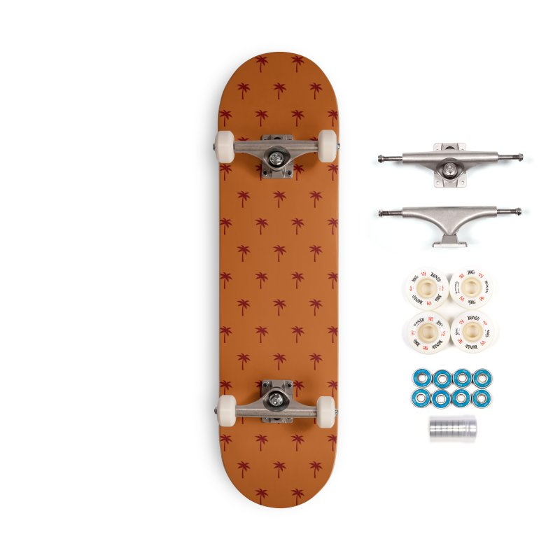 Palm Motif Pattern Accessories Complete - Premium Skateboard by Mr Loco Motif