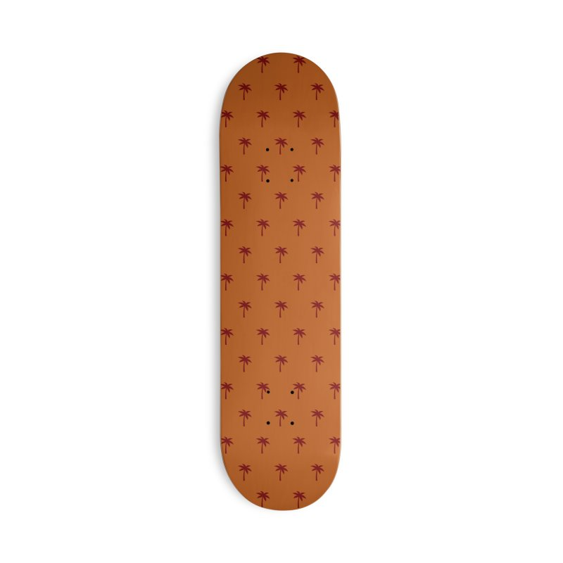 Palm Motif Pattern Accessories Deck Only Skateboard by Mr Loco Motif