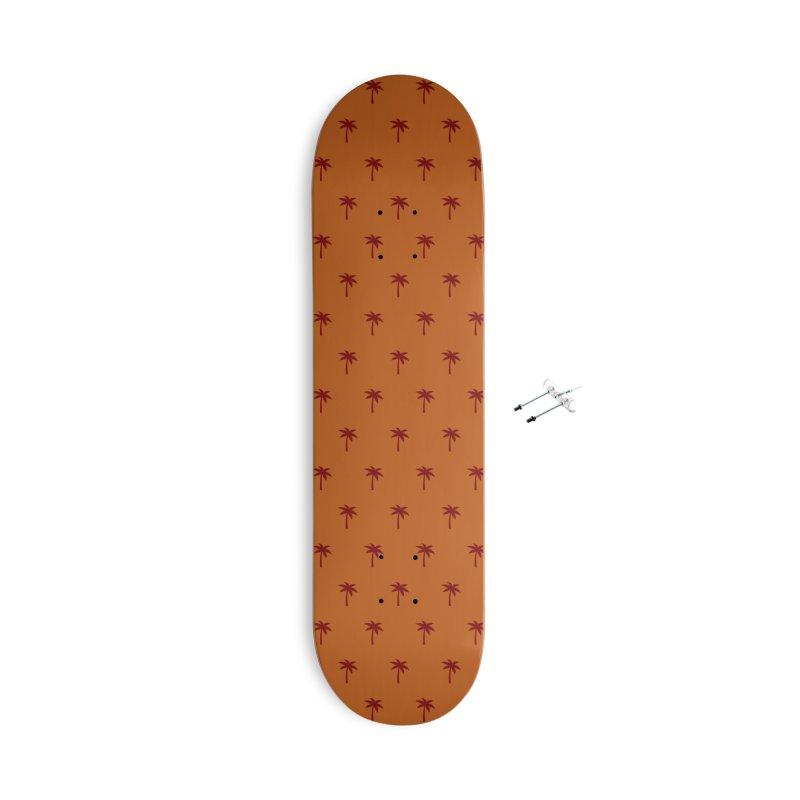 Palm Motif Pattern Accessories Skateboard by Mr Loco Motif