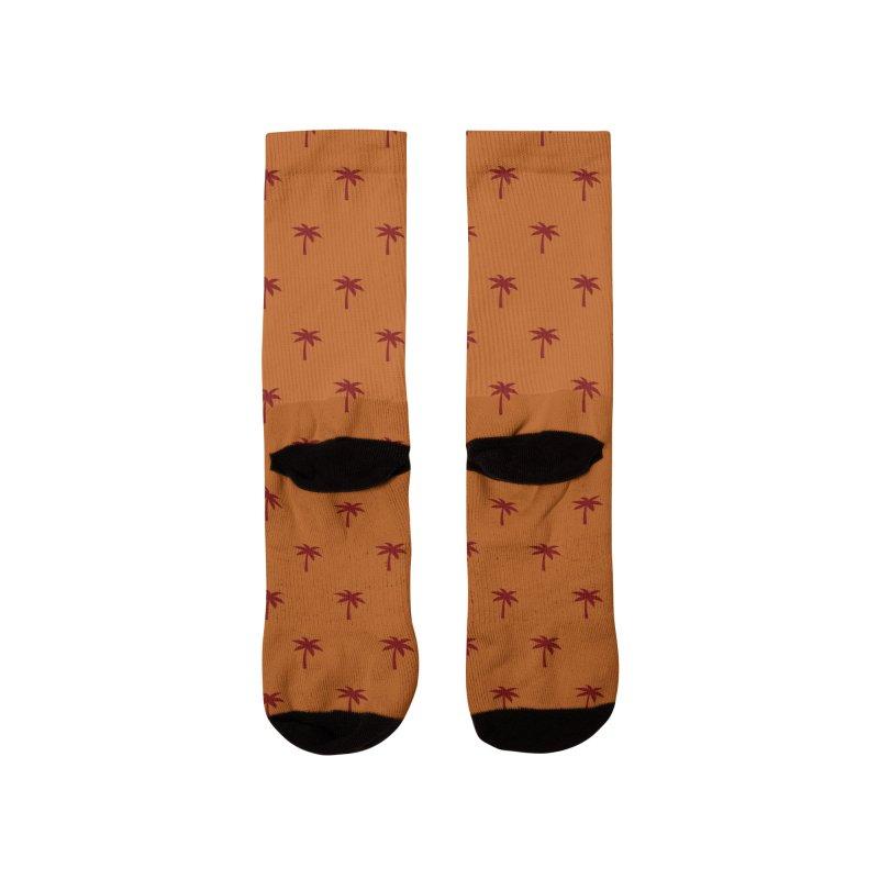 Palm Motif Pattern Men's Socks by Mr Loco Motif