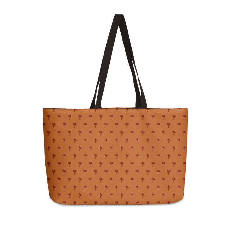 Palm Motif Pattern Accessories Weekender Bag Bag by Mr Loco Motif