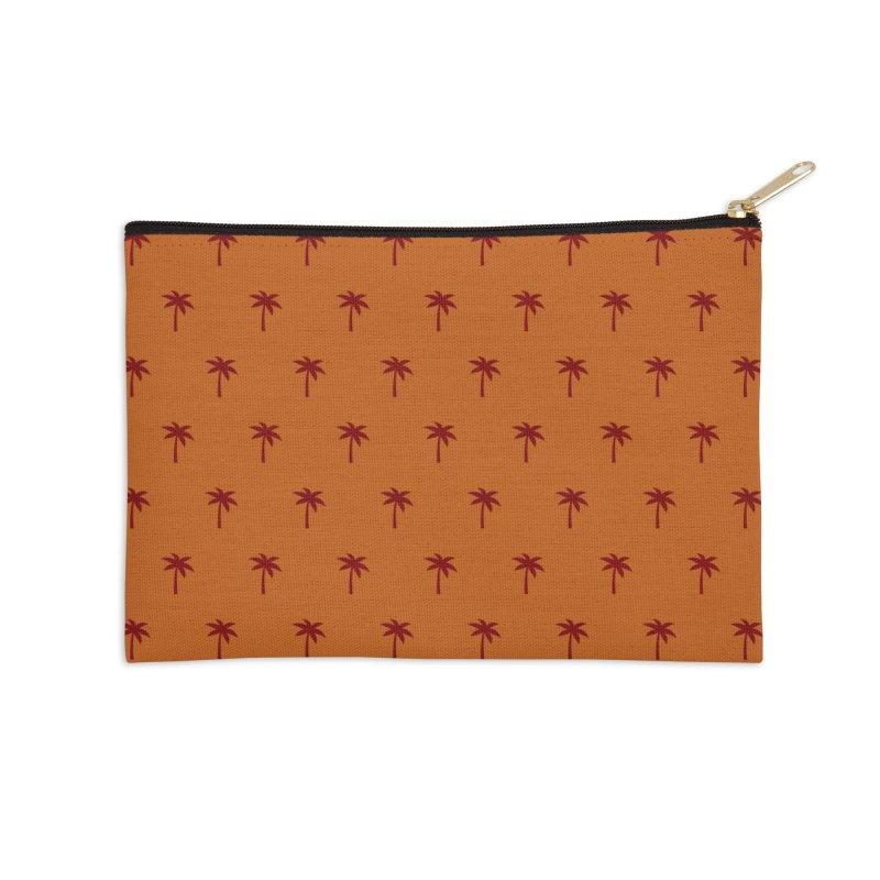 Palm Motif Pattern Accessories Zip Pouch by Mr Loco Motif
