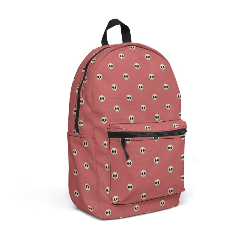 Skull Motif Pattern Accessories Backpack Bag by Mr Loco Motif