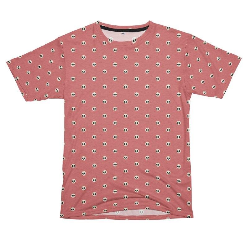 Skull Motif Pattern Men's French Terry T-Shirt Cut & Sew by Mr Loco Motif