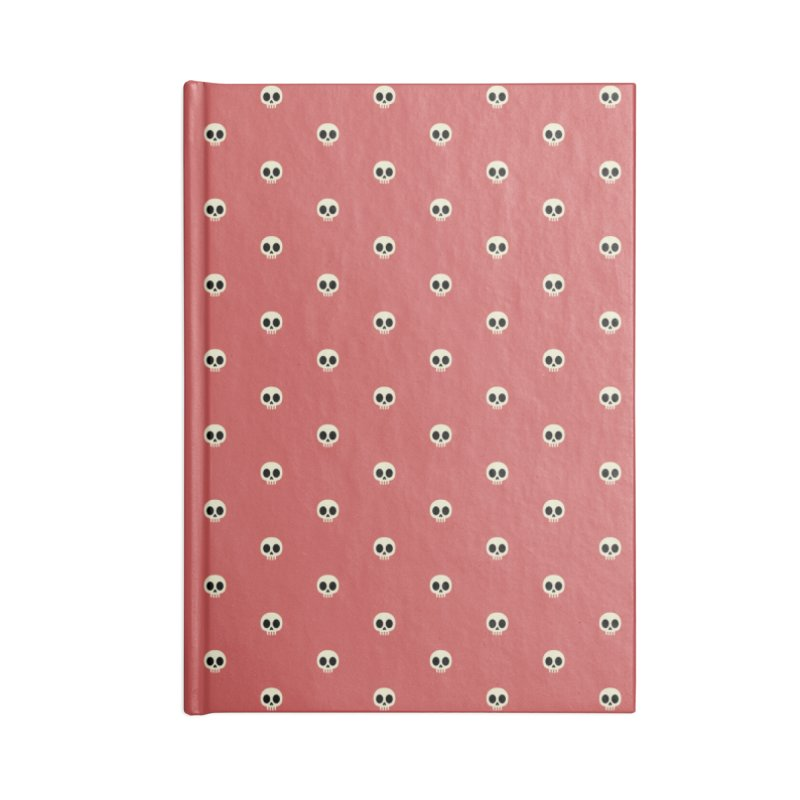 Skull Motif Pattern Accessories Lined Journal Notebook by Mr Loco Motif