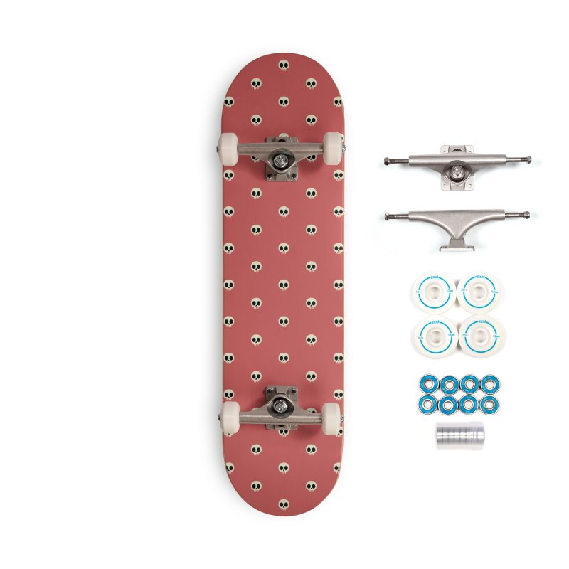 Skull Motif Pattern Accessories Complete - Basic Skateboard by Mr Loco Motif