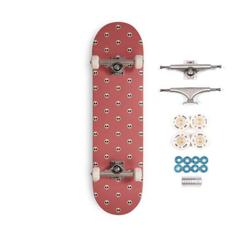 Skull Motif Pattern Accessories Complete - Premium Skateboard by Mr Loco Motif