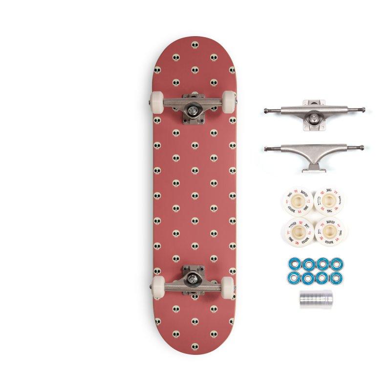 Skull Motif Pattern Accessories Skateboard by Mr Loco Motif