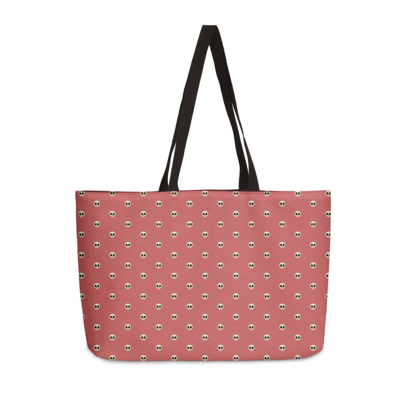 Skull Motif Pattern Accessories Weekender Bag Bag by Mr Loco Motif