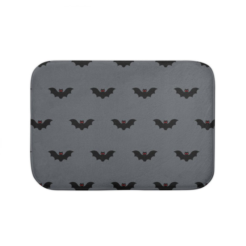 Bat Motif Pattern Home Bath Mat by Mr Loco Motif