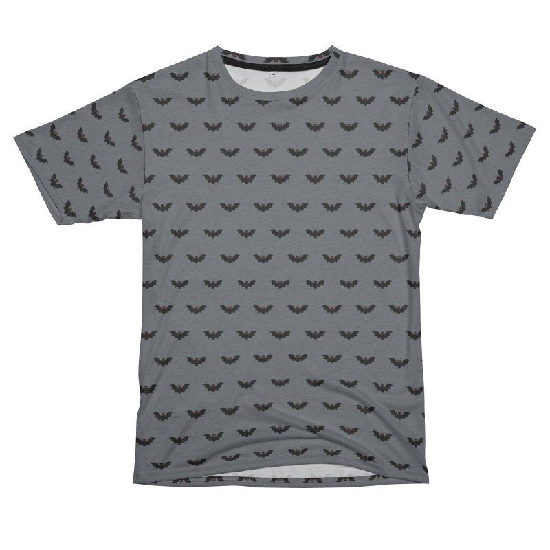 Bat Motif Pattern Men's French Terry T-Shirt Cut & Sew by Mr Loco Motif