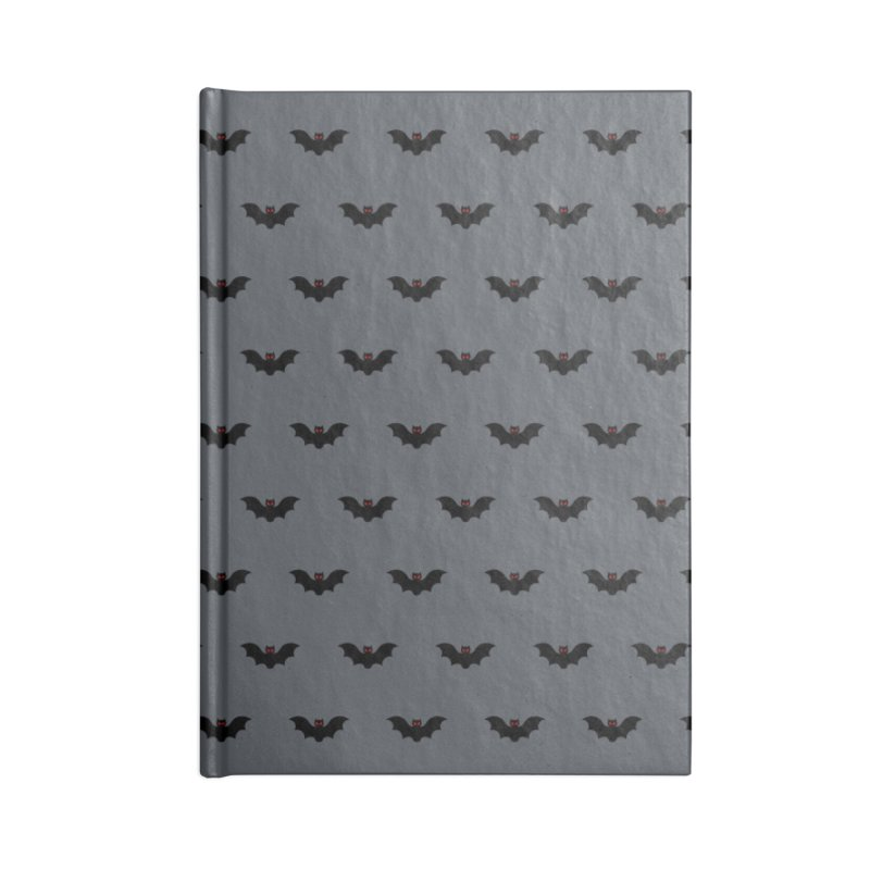 Bat Motif Pattern Accessories Lined Journal Notebook by Mr Loco Motif