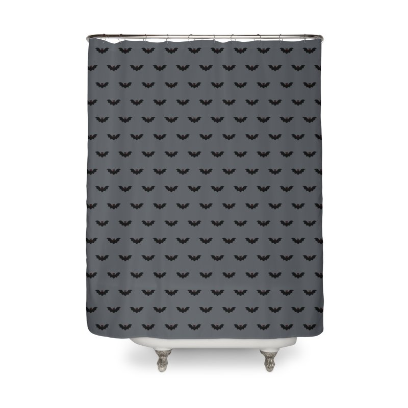 Bat Motif Pattern Home Shower Curtain by Mr Loco Motif
