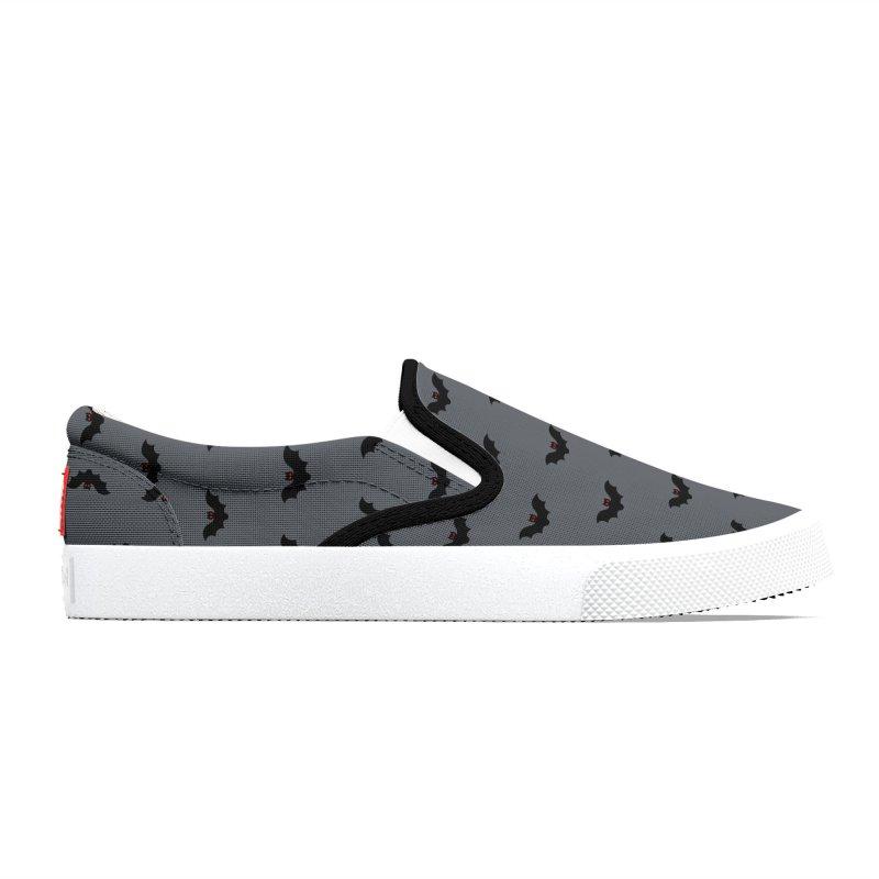 Bat Motif Pattern Men's Shoes by Mr Loco Motif