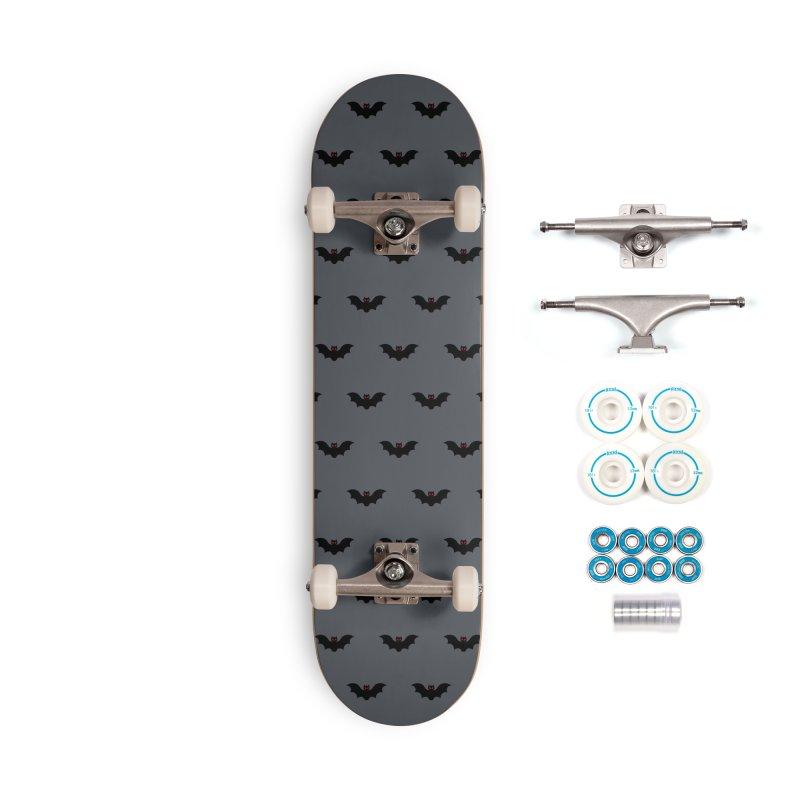 Bat Motif Pattern Accessories Complete - Basic Skateboard by Mr Loco Motif