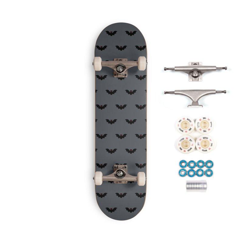Bat Motif Pattern Accessories Complete - Premium Skateboard by Mr Loco Motif