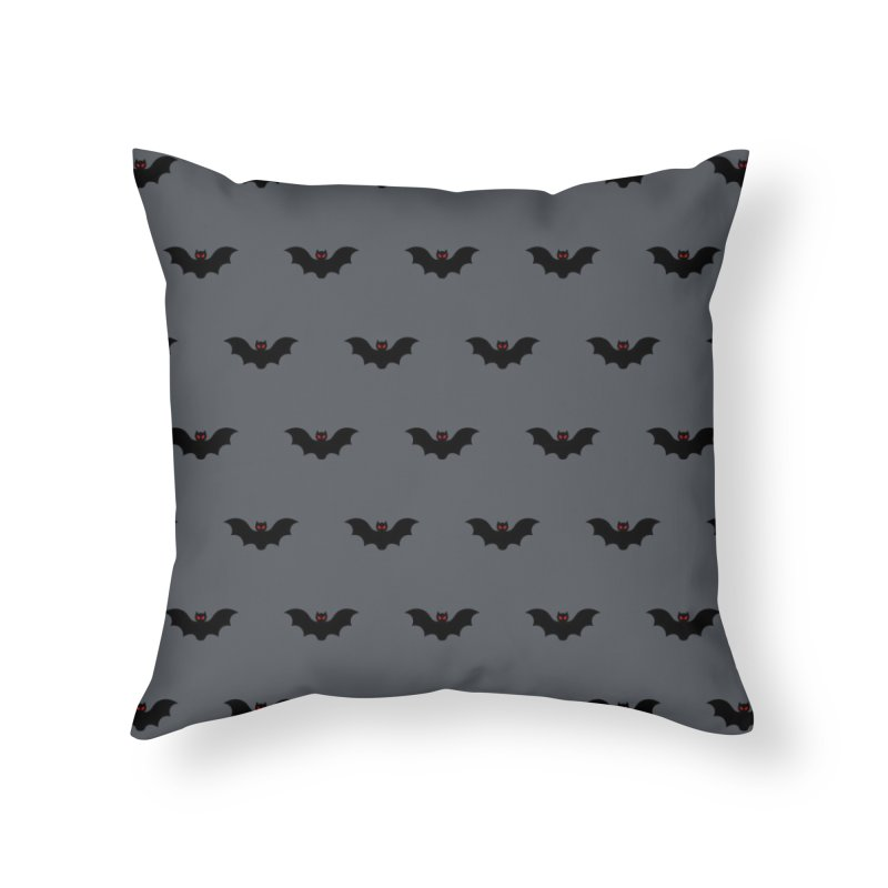 Bat Motif Pattern Home Throw Pillow by Mr Loco Motif