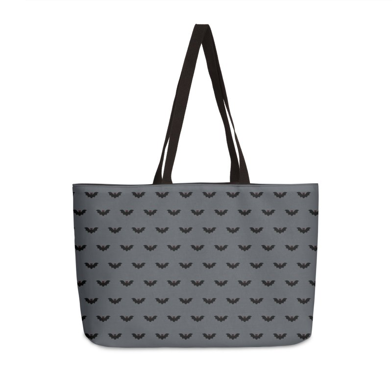 Bat Motif Pattern Accessories Weekender Bag Bag by Mr Loco Motif