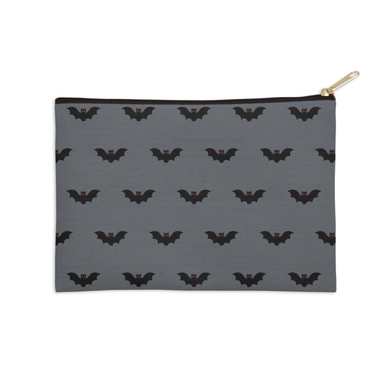 Bat Motif Pattern Accessories Zip Pouch by Mr Loco Motif