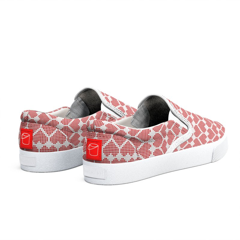 Hearts Motif Pattern Men's Shoes by Mr Loco Motif