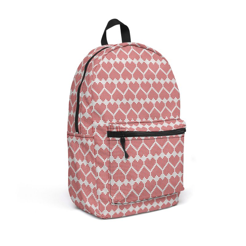 Hearts Motif Pattern Accessories Backpack Bag by Mr Loco Motif