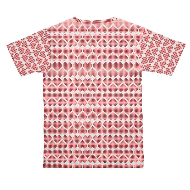 Hearts Motif Pattern Women's Cut & Sew by Mr Loco Motif