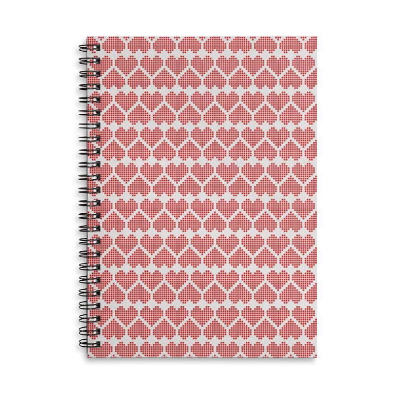 Hearts Motif Pattern Accessories Lined Spiral Notebook by Mr Loco Motif