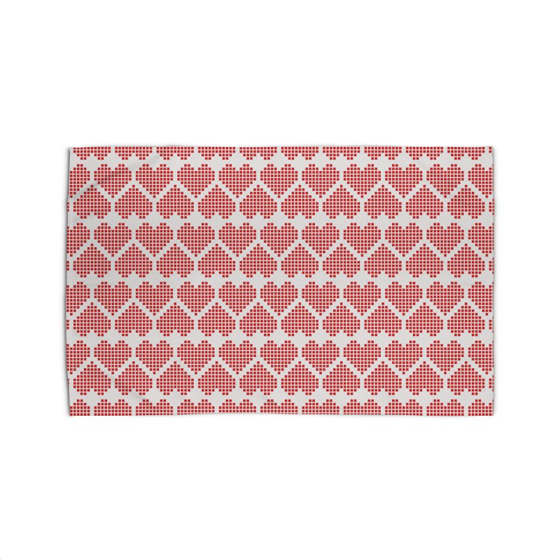 Hearts Motif Pattern Home Rug by Mr Loco Motif