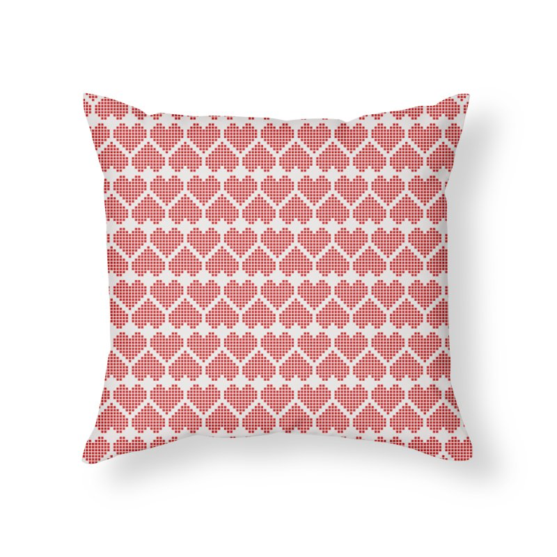 Hearts Motif Pattern Home Throw Pillow by Mr Loco Motif