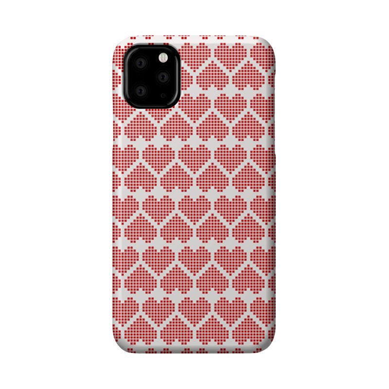 Hearts Motif Pattern Accessories Phone Case by Mr Loco Motif