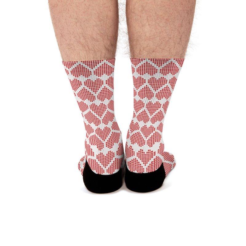 Hearts Motif Pattern Men's Socks by Mr Loco Motif