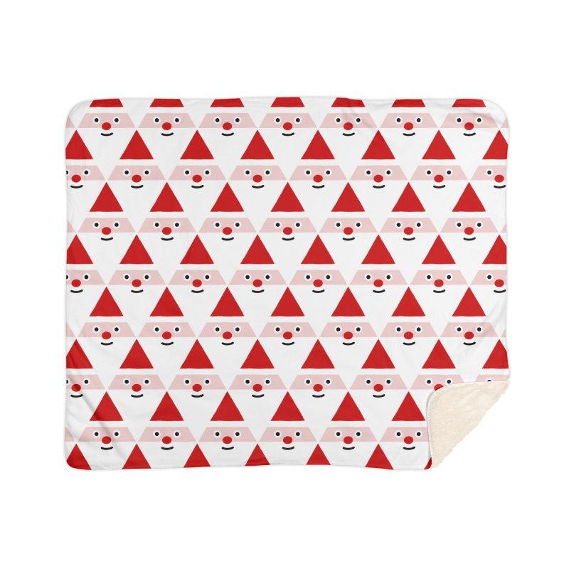 Santa Pattern Home Blanket by Mr Loco Motif