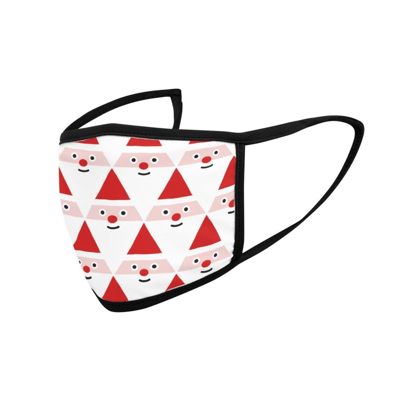 Santa Pattern Accessories Face Mask by Mr Loco Motif