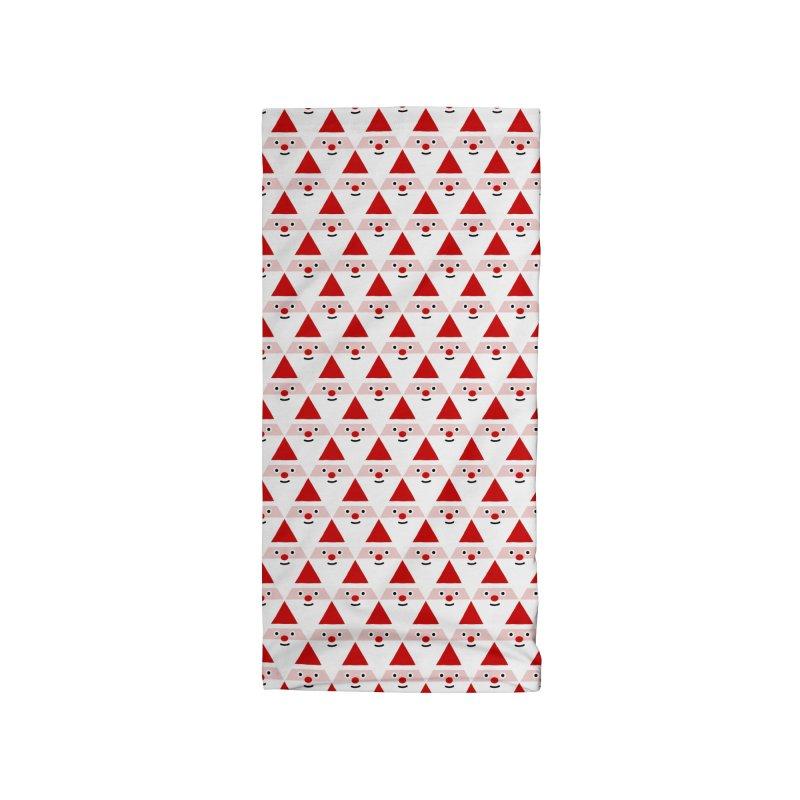 Santa Pattern Accessories Neck Gaiter by Mr Loco Motif