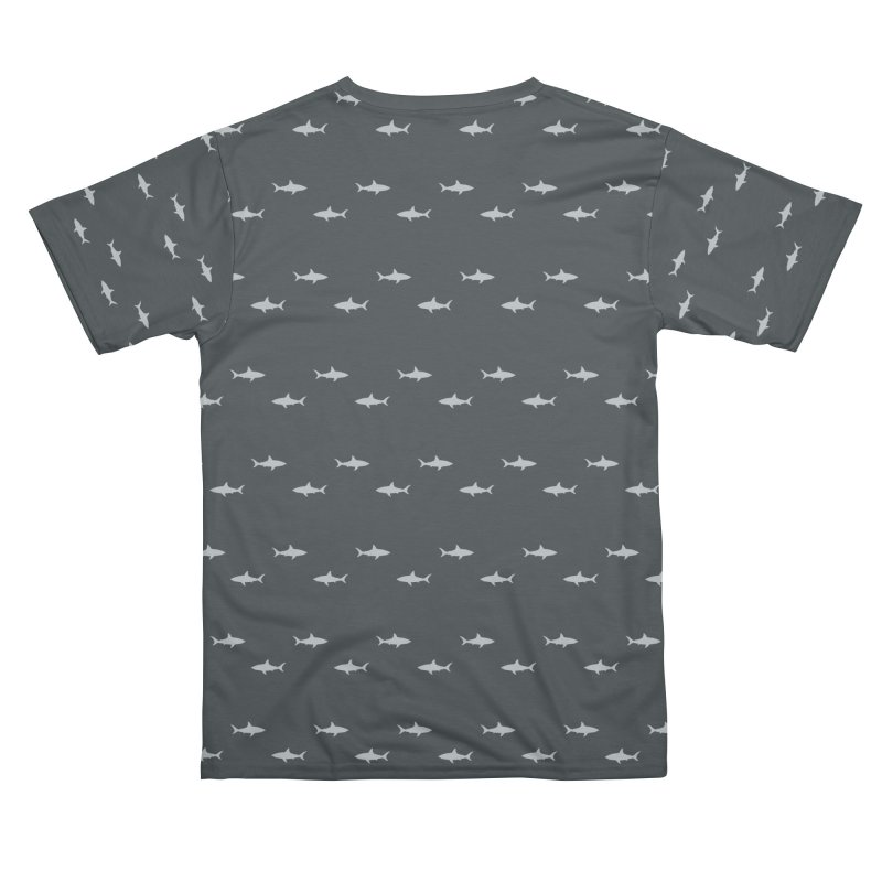 Shark Motif Pattern Men's Cut & Sew by Mr Loco Motif