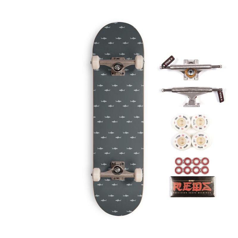 Shark Motif Pattern Accessories Skateboard by Mr Loco Motif